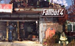 Картинка собака, станция, атмосфера, Броня, экипировка, Bethesda Softworks, Bethesda Game Studios, Fallout 4, Силовая Броня, The …
