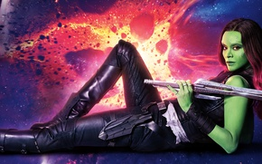 Обои Guardians Of The Galaxy Vol. 2, Gamora, Movie, Marvel