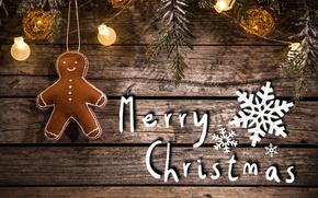 Картинка доски, человечек, christmas, гирлянда, снежинка, merry christmas, decoration, gingerbread