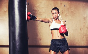 Картинка поза, workout, бокс, фигура, training, спорт зал, тренировка, gym, груша, Boxing, перчатки