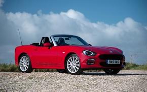 Картинка красный, яркий, red, кабриолет, Fiat, Spider, фиат, cabriolet, metallic