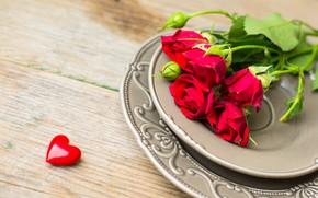 Картинка розы, букет, красные, red, rose, wood