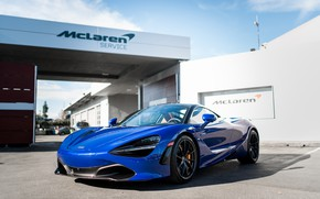 Картинка McLaren, Aurora, Blue, 720s