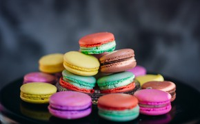 Обои macaroons, печенье, colorful