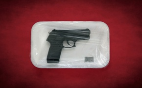Картинка пистолет, оружие, упаковка