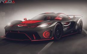 Картинка дорога, автомобиль, Poison car concept