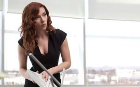 Обои Black Widow, Film, Кино, Скарлетт Йоханссон, Супергерой, Scarlett Johansson, Red head, Hero, Iron Man 2, ...