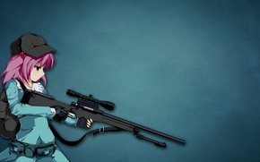Обои gun, hitman, weapon, anime, sniper, assassin, asian, japanese, bishojo, Sniper Girl