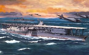 Картинка aircraft carrier, IJN, akagi