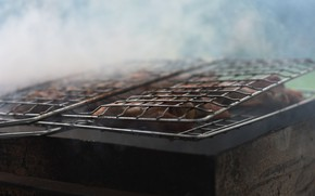 Картинка макро, дым, еда