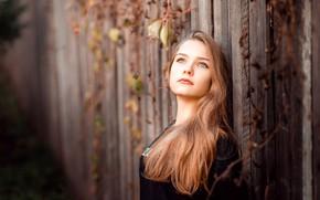 Обои портрет, губки, рыжеволосая, Ксения, фотограф Сергей Сергеев