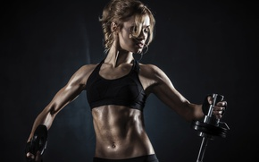 Картинка blonde, pose, fitness