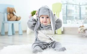 Картинка малыш, младенец, костюмчик