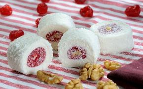 Картинка орехи, десерт, рахат-лукум