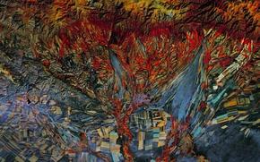 Картинка фото, поля, NASA, Казахстан, инфракрасное изображение