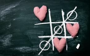 Картинка сердечки, доска, love, romantic, hearts, мел