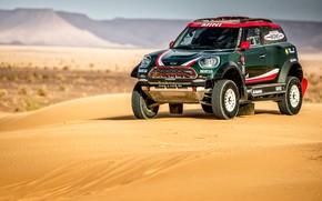 Обои Ралли, Cooper, Mini, Dakar, Rally, Мини, Песок, Mini Cooper