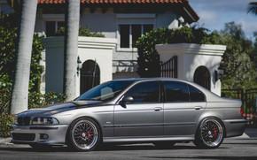 Картинка BMW, Sky, Bavaria, E39, Gray