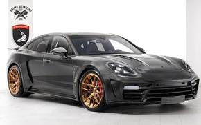 Картинка Porsche, Panamera, GTR, вид сбоку, 2018, Stingray, TopCar, Carbon Edition