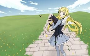Картинка девушка, собака, Аниме, Dogs Bullets & Carnage