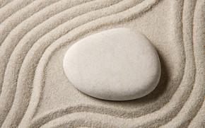 Картинка песок, камни, stone, sand, zen