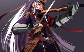 Картинка sword, gun, game, weapon, anime, ken, blade, asian, warrior, japanese, oriental, asiatic, bishojo, top hat, …