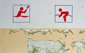 Обои стена, фон, спорт
