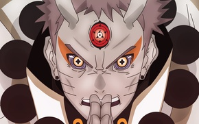 Обои sharingan, manga, power, rinegan, Rikudou Sennin, Indra, ninja, jinchuuriki of the kyuubi, shinobi, Uzumaki Naruto, ...