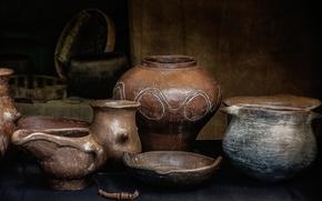 Обои керамика, посуда, утварь, натюрморт