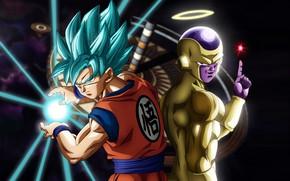 Картинка game, alien, anime, martial artist, manga, god, Son Goku, Dragon Ball, strong, Goku, Saiyan, Freeza, …