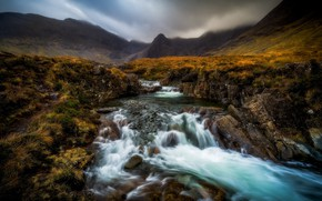 Обои Шотландия, Cuillin Cascade, Highland, Scotland