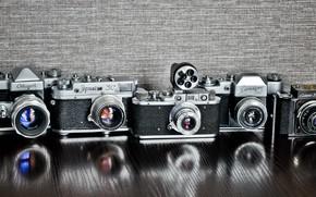 Обои камеры, старт, смена, фон, зенит, зоркий
