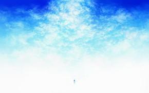 Картинка небо, вода, стул