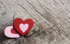 Картинка дерево, минимализм, сердечки, minimalism, wood, hearts, деревянный фон, wood background