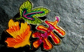 Картинка макро, украшение, листики