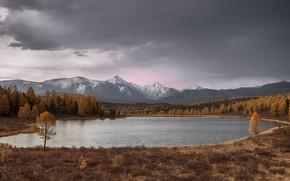 Картинка осень, Озеро, Алтай, Киделю