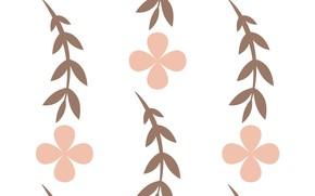 Картинка Фон, Цветок, Текстура, Листья