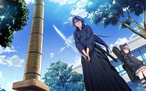 Картинка оружие, меч, девочка, Grisaia: Phantom Trigger