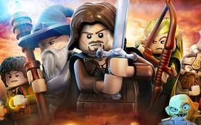Картинка game, hat, ken, Lego, The Lord of the Rings, blade, helmet, Lego The Lord of …