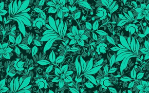 Картинка цветы, green, узор, текстура, flowers