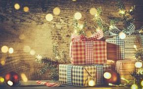 Картинка Новый Год, Рождество, christmas, vintage, balls, merry christmas, decoration, gifts, xmas, fir tree