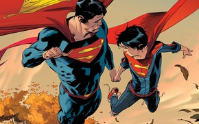 Картинка Полет, Герои, Костюм, Flight, Супермен, Комикс, Heroes, Плащ, Superheroes, Superman, Кларк Кент, DC Comics, Clark …