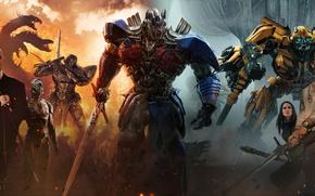 Обои cinema, film, ken, sword, blade, movie, Transformers: The Last Knight, machine, Transformers, dragon, mecha