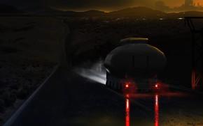 Картинка ночь, трасса, цистерна, BLADE RUNNER 2049, Black Out 2022