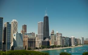 Картинка Чикаго, США, Америка, Иллинойс, небоскрёб, Willis Tower, Sears Tower, Уиллис-тауэр, Сирс-тауэр