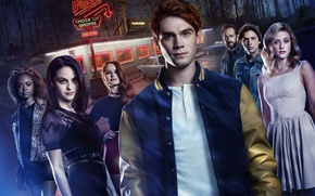 Обои The CW Television Network, TV series, Riverdale, woman, man, girl