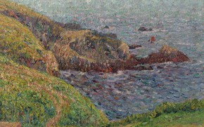 Картинка пейзаж, картина, Залив, Гюстав Луазо, Gustave Loiseau
