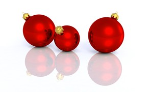Картинка шарики, игрушки, Рождество, Новый год, елочные украшения
