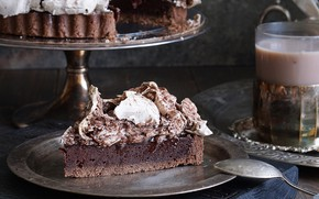 Картинка кусок, какао, безе, тарт