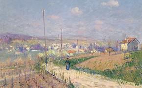 Картинка пейзаж, картина, Гюстав Луазо, Весна в Иль-де-Франс, Gustave Loiseau